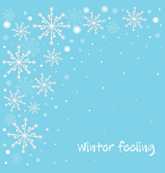 winter celebration blue background with white vector image