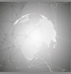 world globe on gray background global network vector image