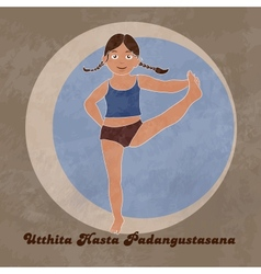 Yoga Extended Hand To Big Toe Pose vector