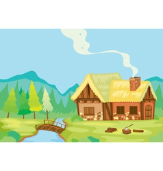 a house in nature vector image