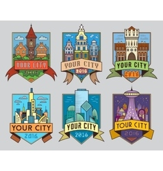 City badges1 color vector
