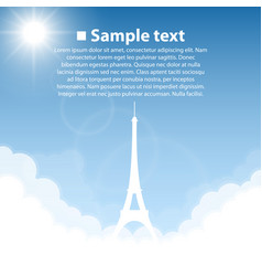 eiffel tower world sightseeing collection vector image