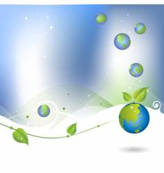 environment background with globe icon vector image vector image