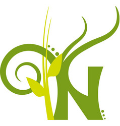 nature n vector image