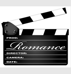 romance clapperboard vector image