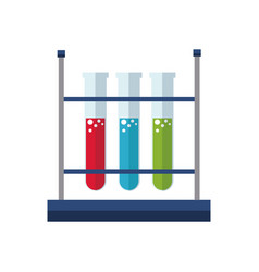 test tube rack laboratory exam liquid vector image