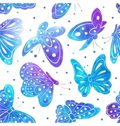 Watercolor Vintage butterfly seamless pattern vector image vector image