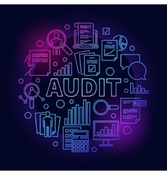 Business audit colorful vector image