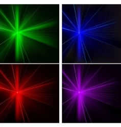 disco lights set vector image