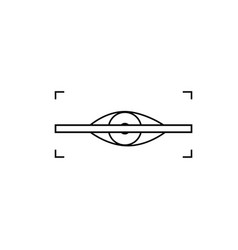 eye scanner icon vector image