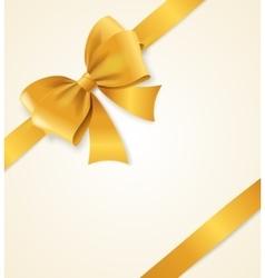 Gold Satin Ribbon vector image