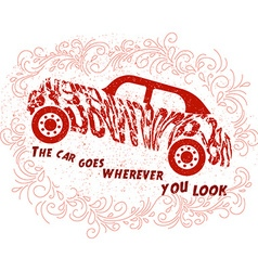Motivational quote about cars vector image