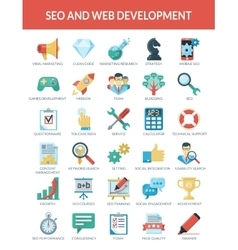 SEO and WEB development vector image