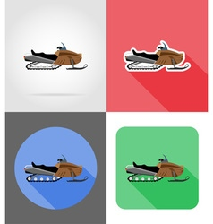 Transport flat icons 46 vector