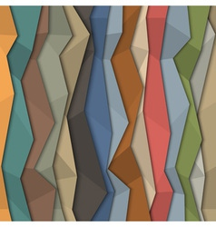 3d colorful paper background origami style vector image