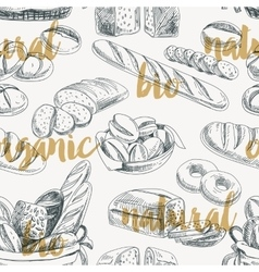 bread retro seamless pattern vector image