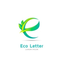 E letter eco logo vector image vector image