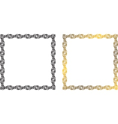frame of the chains vector image
