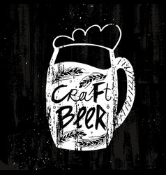 hand drawn craft beer template vector image vector image