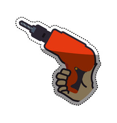 hand electric drill carpentry tool vector image