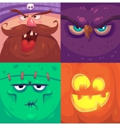Happy halloween Set of Halloween characters vector image vector image