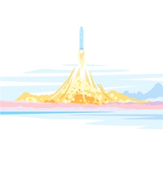 Spaceship Launch Landscape vector image vector image