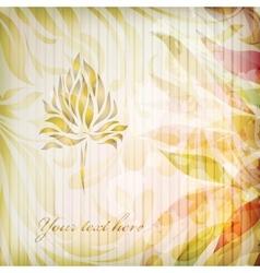 Vintage floral beautiful background vector image
