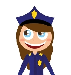 woman agent police character avatar vector image vector image