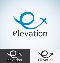 Letter E Logo concept template for start up flight vector image