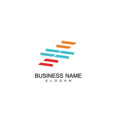 line stripe business logo vector image