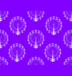 seamless pattern with a ferris wheel vector image vector image