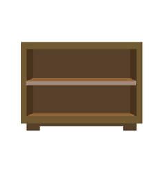 wooden bedside chest vector image