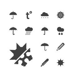 13 meteorology icons vector