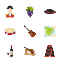 A set of pictures about spain sights of spain vector