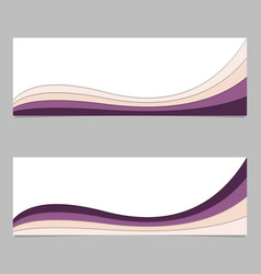 Abstract banner background from wave stripe vector