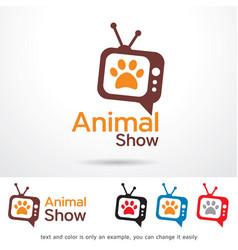 Animal show symbol template design vector