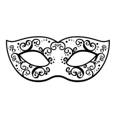 Back venetian carnival mardi gras party vector
