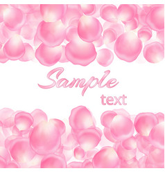 background with pink petals and text vector image