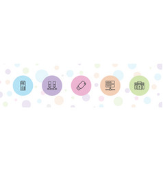 Backup icons vector