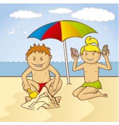 Beach fun vector