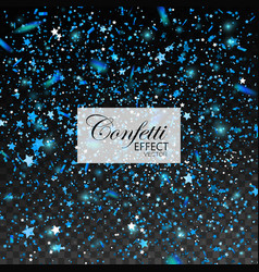 blue glittering star dust vector image