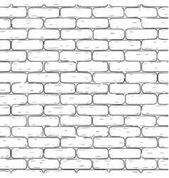 Brick wall background black and white texture vector