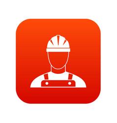 builder icon digital red vector image