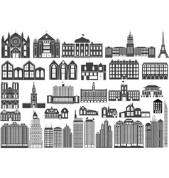 Building fronts vector