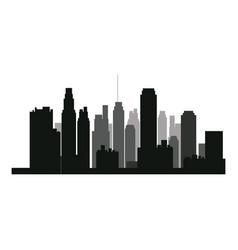 Buildings silhouette urban landscape american vector