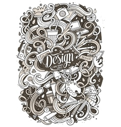 Cartoon cute doodles design vector