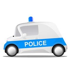 Cartoon police car vector