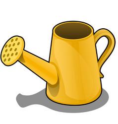 cartoon watering can is orange color vector image