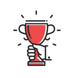 Champion cup award single icon vector