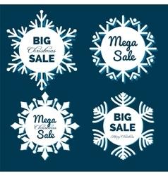 Christmas snowflakes sale banners vector image